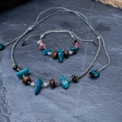 amulet nowy początek bransoletka naszyjnik kamienie naturalne