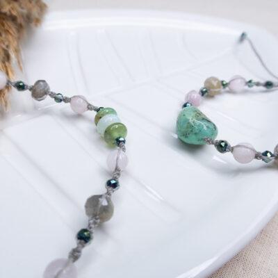 biżuteria naturalna chryzopraz