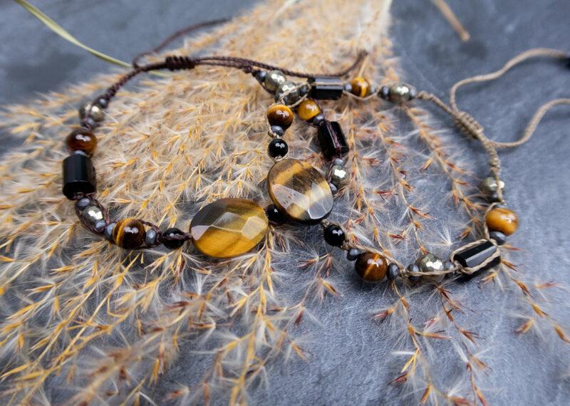 bransoletki kamienie naturalne tygrysie oko