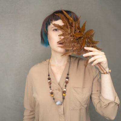 jesienny naszyjnik pani jesień