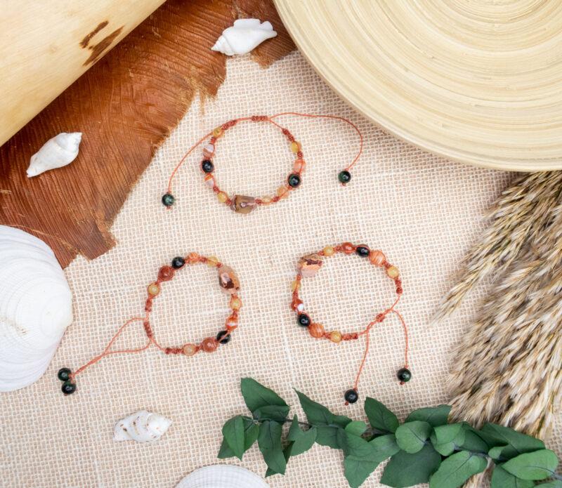 letnie bransoletki kamienie naturalne