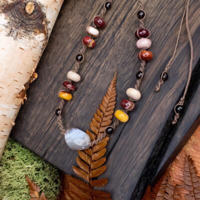 naszyjnik kolory jesieni