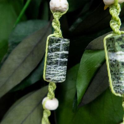 zielony jaspis naszyjnik