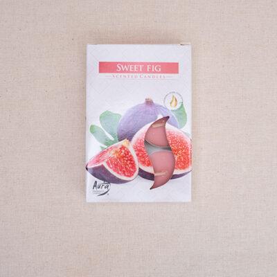 świece zapachowe tealight zapach słodka figa