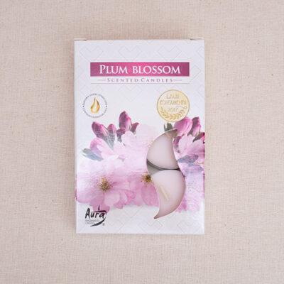 świece zapachowe tealight kwiat śliwki