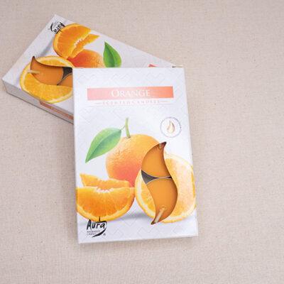 świece zapachowe tealight pomarańcza