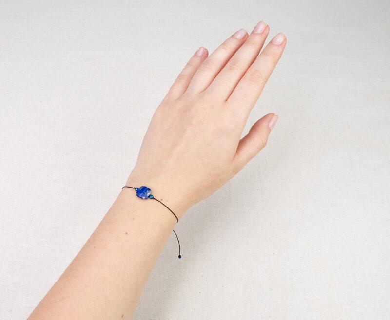 subtelna bransoletka lapis lazuli