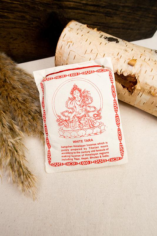 Tradycyjne tybetańskie kadzidło proszkowe Biała Tara
