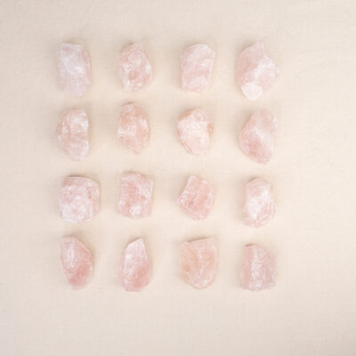 Kwarc różowy duża surowa bryłka