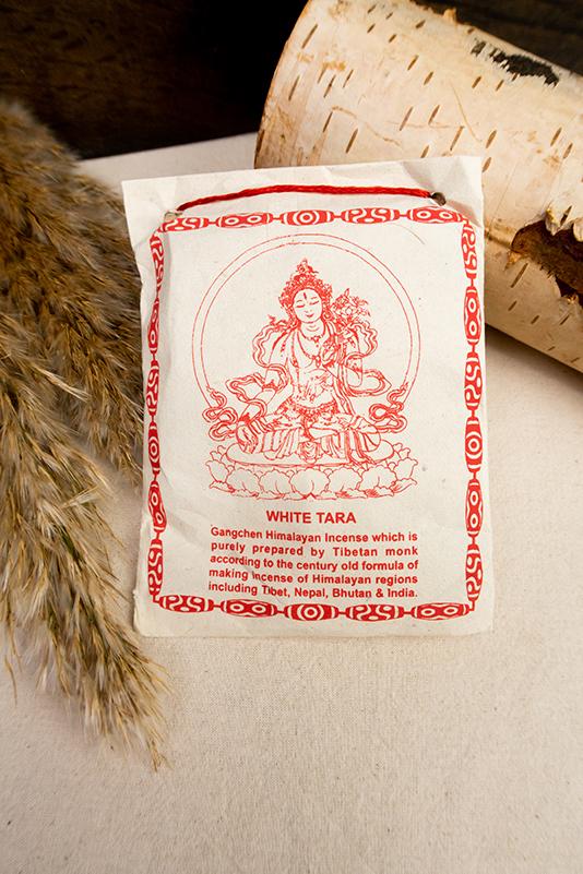 Tradycyjne tybetańskie kadzidło proszkowe sang Biała Tara