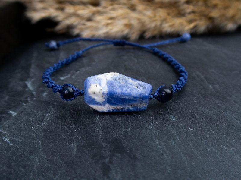 męska-bransoletka-z-niebieskim-kamieniem
