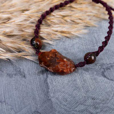 agat-brązowy-bransoletka
