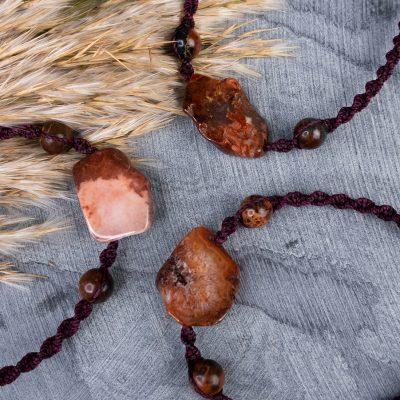 Męska bransoletka z agatem brązowym